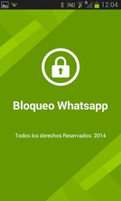 Pantalla de bloqueo de WhatsApp